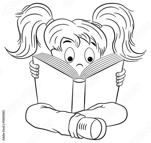 """""""kind liest ein spannendes buch """" imágenes de archivo y"""