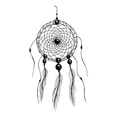 Dreamcatcher hand drawn illustration