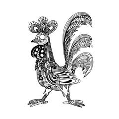 Decorative cock illustration