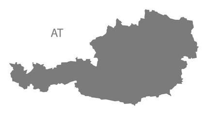 Austria Map grey