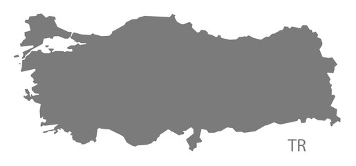 Turkey Map grey