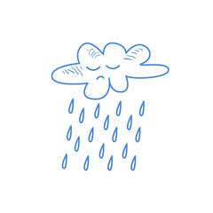 Sad Cloud Pouring Rain
