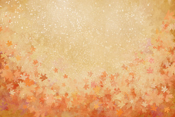 colorful leaves autumn background with texture,illustration painting