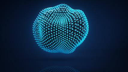 Deformed cluster of spheres 3D render
