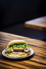 pork belly bun pao traditional chinese snack sandwich food