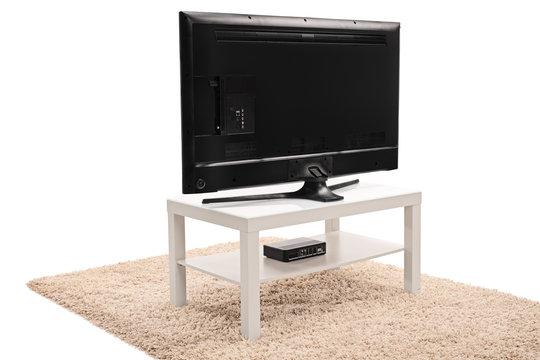 Rear view shot of a flat screen TV