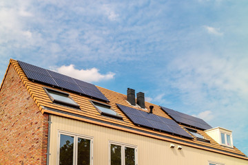 New Dutch houses with solar panels