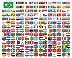 Flags. Brazil. Summer games.