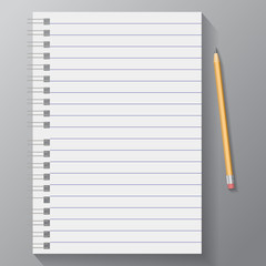 vector blank notebook