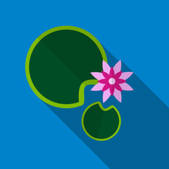 Water lily flat icon illustration