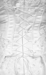 Lacing on a corset - rear view