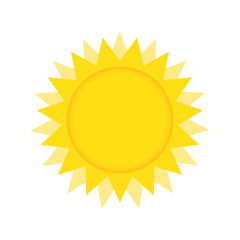 Summer Sun Vector Illustration