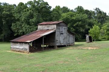 Old rustic barn shed rural Georgia, USA