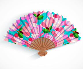 Decorative folding fan.