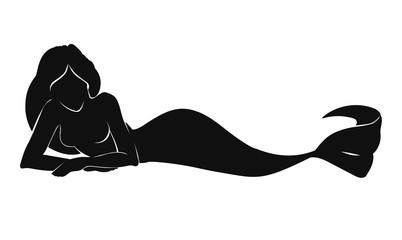 Pretty mermaid silhouette