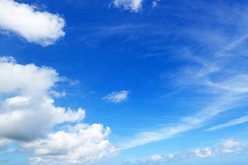 沖縄上空のさわやかな空