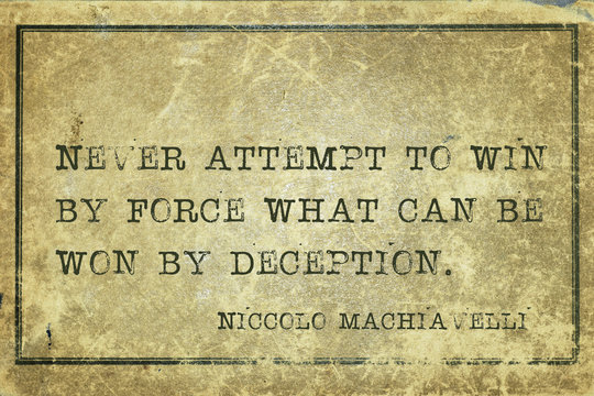 win force Machiavelli