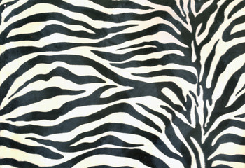 piece of cloth painted zebra background