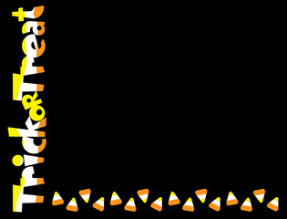 Trick or Treat candy corn border