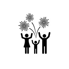 Cheering People and Firework Icon