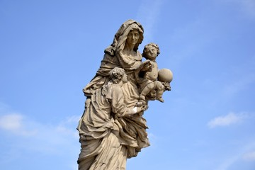 St Anne statue and blue sky Wall mural