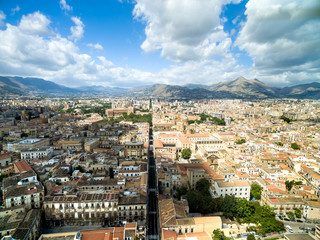 Aerial View of Palermo, Italy