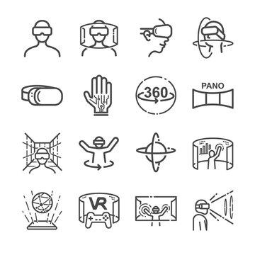 Virtual Reality gaming Icons
