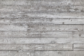 Wall made of concrete with wood texture.