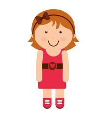 little girl smile icon