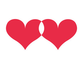 hearts love red icon