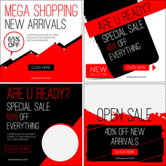 Sale banners. Sales templates. Black friday sale. Template for sale and  advertising. Vector illustration.