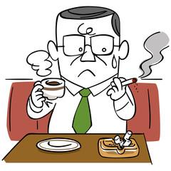 禁煙を考えるビジネスマン