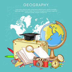 Education back to school studying geography school globe compass