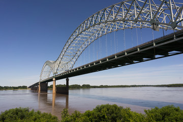 Hernando de Soto Bridge Spanning Mississippi River Arkansas Tennessee