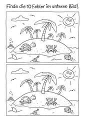Fehlerbild Insel