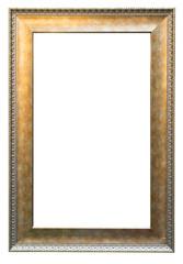 Blank Golden vintage frame isolated on white