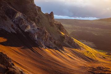 Detail of volcanic landscape at Haleakala national park, Maui