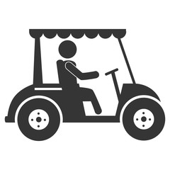 Golf sport isolated flat icon, vector illustration.