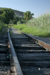Abandoned old railway