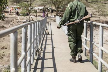 Game warden in Kenya