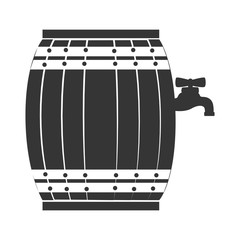 Wine wooden barrel isolated, vector illustration eps10