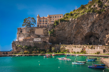 Wall Mural - The picturesque fishing port of Maiori, Amalfi Coast, Italy