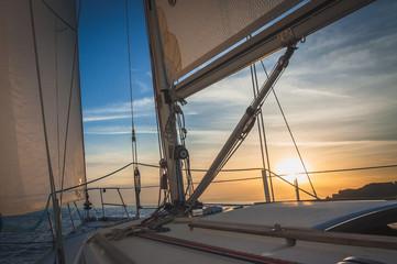 Sailing on the Sea, Sunrise