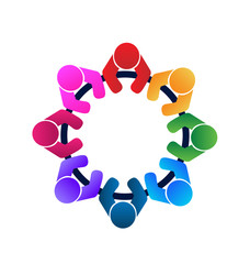 Logo teamwork workers and employees in a meeting