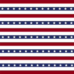 American patriotic stars and stripes pattern in vintage colors