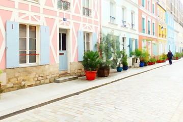 Rue crémieux, Paris (effet peinture.)