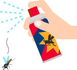 殺虫スプレーと蚊