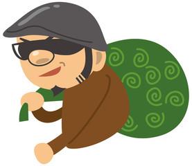 泥棒のイメージイラスト(上半身)
