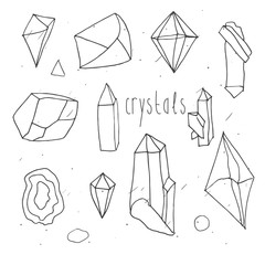 Geometric polygonal crystals.