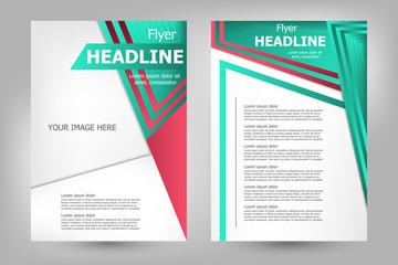 Vector flyer template design